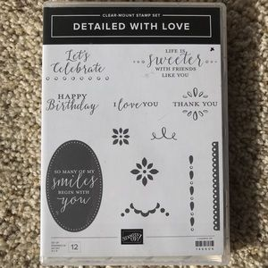 """Stampin Up! """"Detailed With Love"""" clear mount set"""